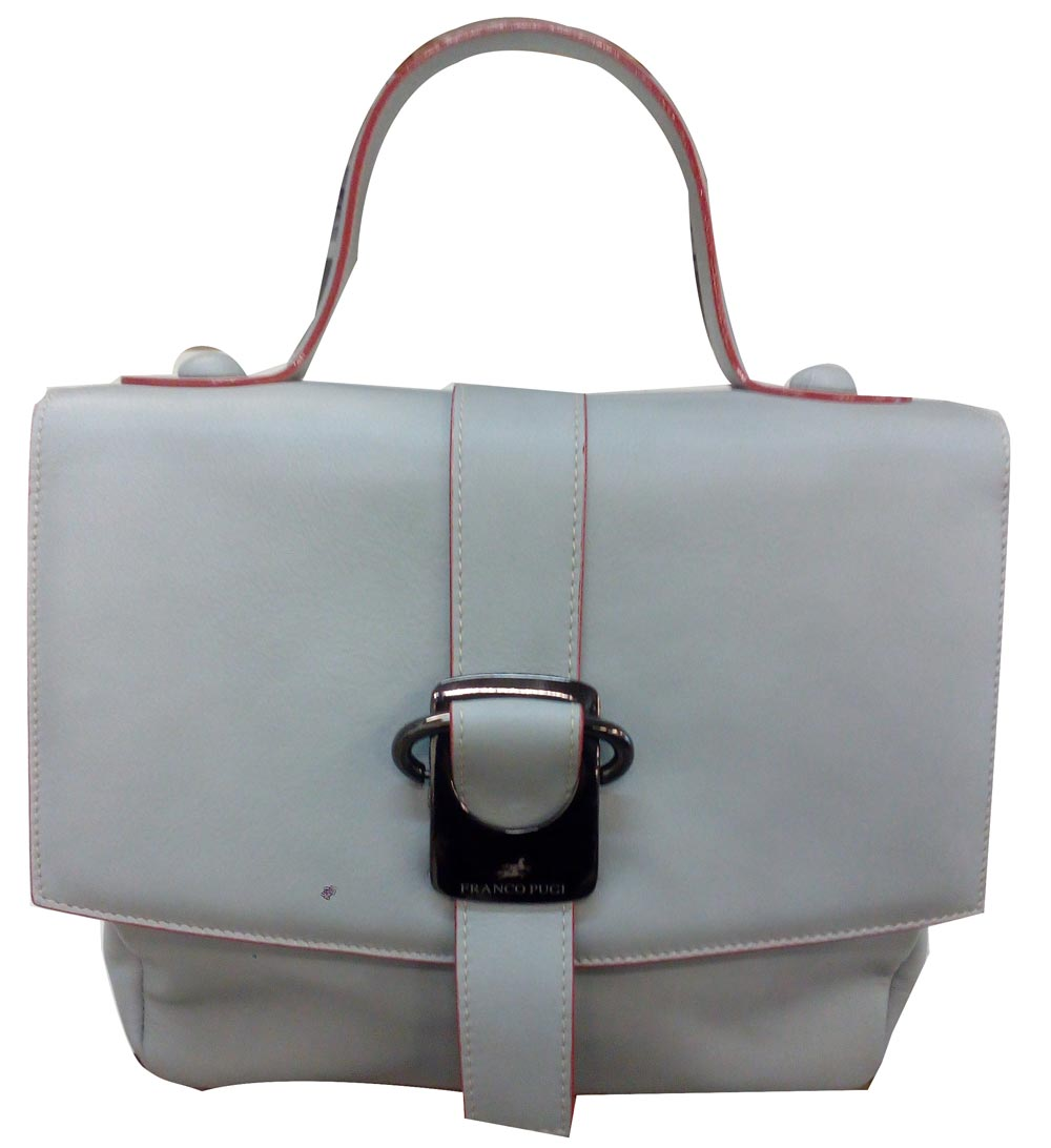 Leather Soft Handbags grey Pugi Ombretta Calf Franco wzqAYA